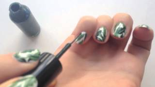 Beverly Hills Hotel Banana Leaf Wallpaper Nail Art |  xoVain
