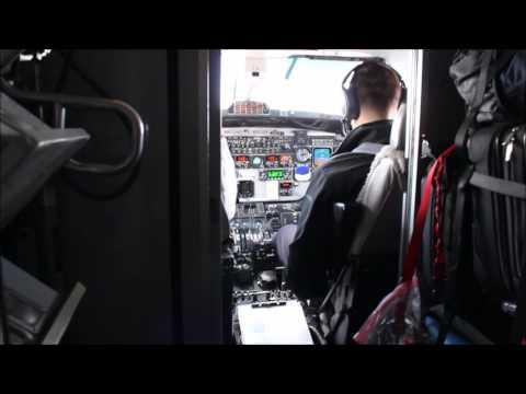 Cockpit Takeoff/Landing - Air Canada Beech 1900 - Charlottetown To Halifax
