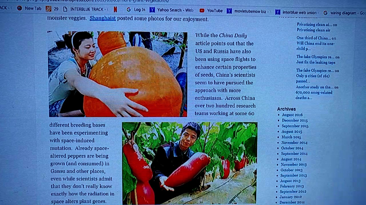 China Has Been Sending Seeds Into Space For Growing Radiation Only Wiring And Diagram March 2013 Enhanced