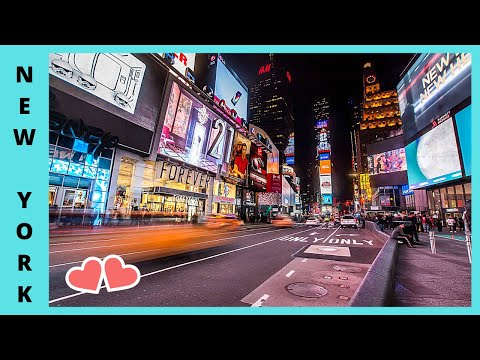NEW YORK CITY, The Fantastic Neon Lights Of TIMES SQUARE (USA)