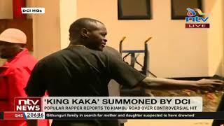 Wajinga Nyinyi King Kaka goes to DCI headquarters after summon