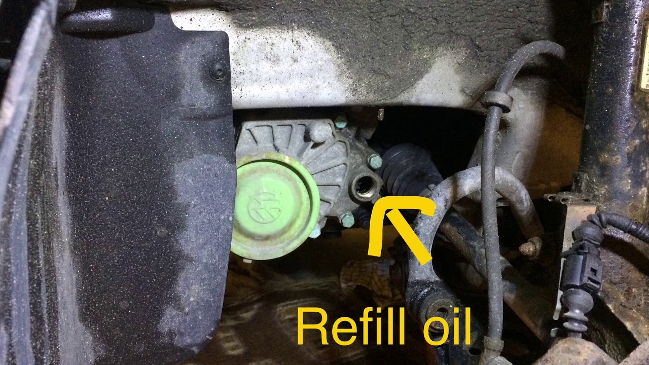 How To Change The Transmission Fluid Audi A3 1 6 Darin Refill Oil