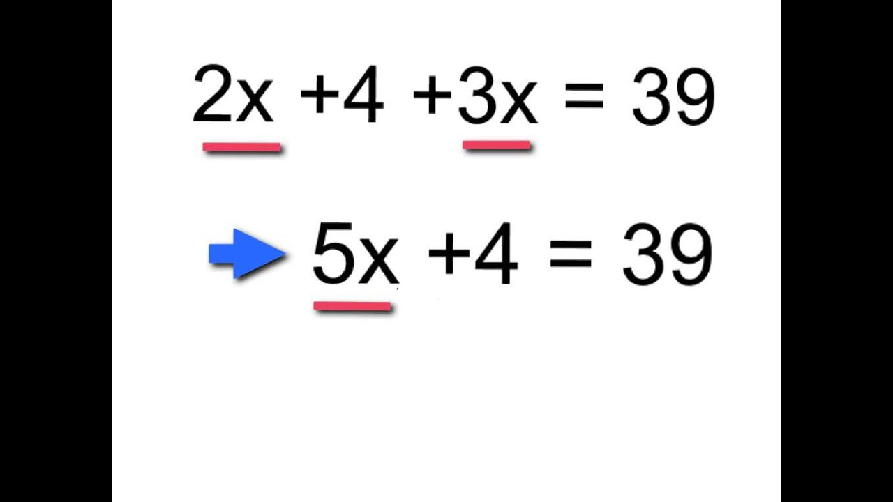 Solving Equations By Combining Like Terms A
