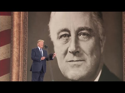 President Trump reads from Roosevelt's D-Day prayer during the 75th Anniversary Ceremony