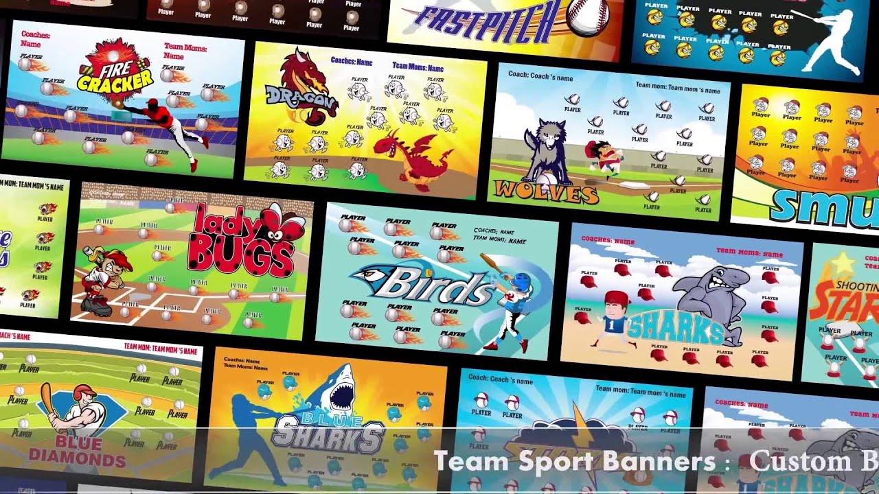 softball team banners softball banner ideas part 1 youtube