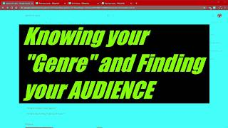 """Know Your """"Genre"""" & Find your Audience"""