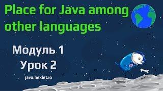 Модуль 1. Урок 2. Виды языков программирования и место языка Java среди них.