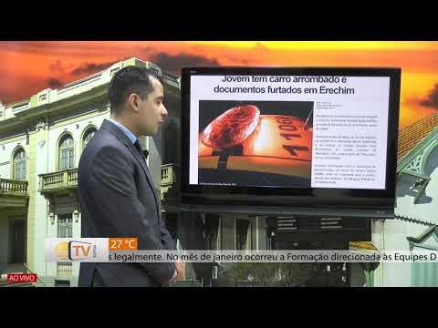 Jovem tem carro arrombado e documentos levados em Erechim - 06/02/2020