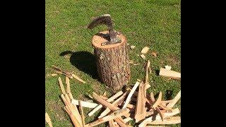 Video How to make Kindling splitter made from an old axe head  DIY download MP3, 3GP, MP4, WEBM, AVI, FLV Oktober 2018