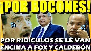 🔴 JAJAJA PARA REIR ¡ ASI DEJAMOS EN RID.ICULO A FOX Y CALDERON ! POR BOCONES - ESTADISTICA POLITICA