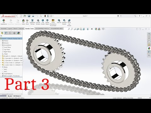 Solidworks tutorial chain and Sprocket Part3
