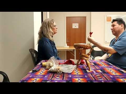Facilitate protocols: Making and offering with a tobacco tie