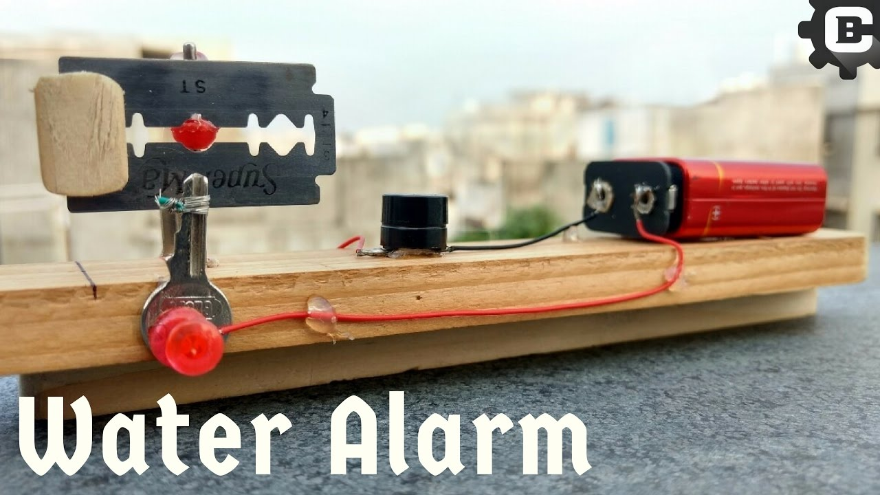 How To Make Water Level Indicator With Alarm Youtube Build A Door Circuit