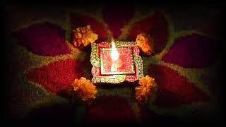 Diwali candles and Rangoli Decoration