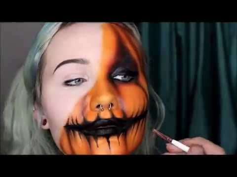 Half Pumpkin Face Makeup Tutorial! thumbnail