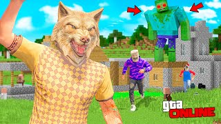 24 HOURS IN THE WORLD OF MINECRAFT CHALLENGE! - CHALLENGES IN GTA 5 ONLINE