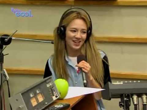"Hyoyeon rapping The Boys ""We're born to win"" Kiss the Radio Oct21.2011 GIRLS' GENERATION Live"
