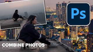 how to combine aฑd blend photos in Photoshop