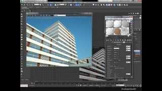 Моделирование многоэтажного дома и визуализация в 3ds max.