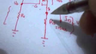 Transistor Mosfet 11 Polarización por divisor de tensión