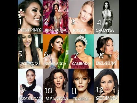 Confirmed Miss Universe 2018 List of Candidates as of May (Partial)