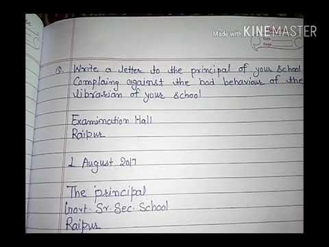 Letter to principal to complain against librarian - YouTube