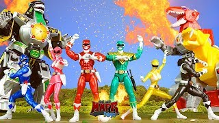 Epic Mighty Morphin Power Rangers Animation! & Dino Zord Toy Review!