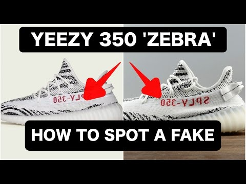 11cf294491e REAL VS FAKE YEEZY 350 'ZEBRA' | How To Spot Fake/Replica YEEZY'S ...