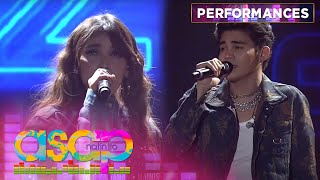 KZ Tandingan and Inigo Pascual's duet performance on stage |  Asap Natin 'To