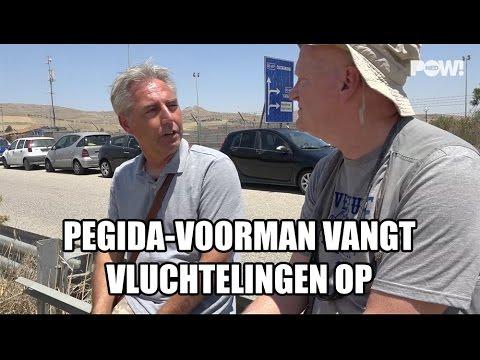 Pegida-voorman vangt vluchtelingen op