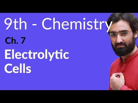 Matric part 1 Chemistry, Electrolytic Cells - Ch 7 - 9th Class Chemistry