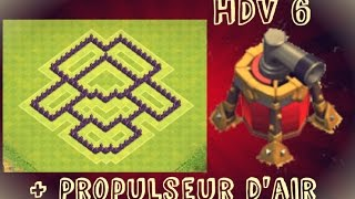 Clash of Clans ~ (New Update) HDV 6 Propulseur d'Air Farming Base BEST TH6 Air Sweeper Base 2015