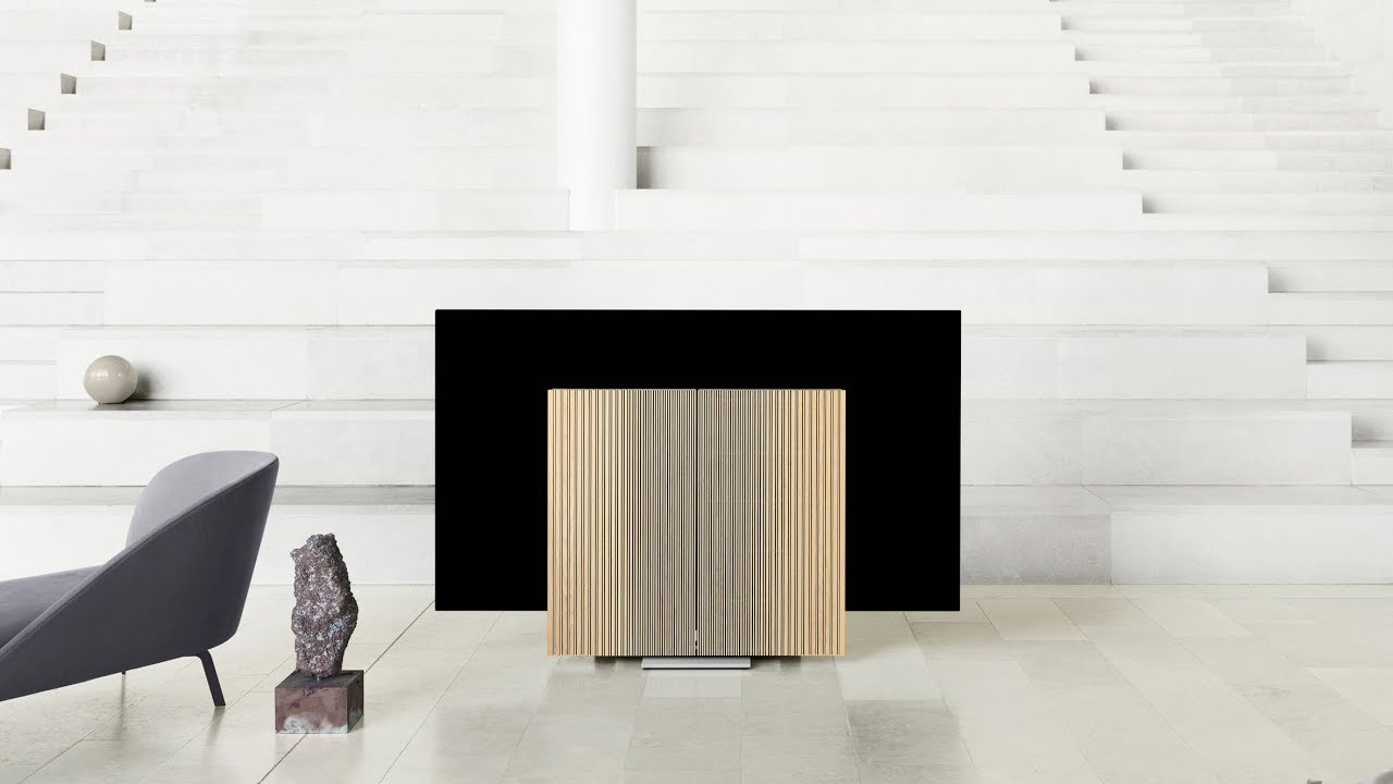 Bang And Olufsen Paris Bang Olufsen Reveals A 20 000 Tv That Mechanically Folds Down