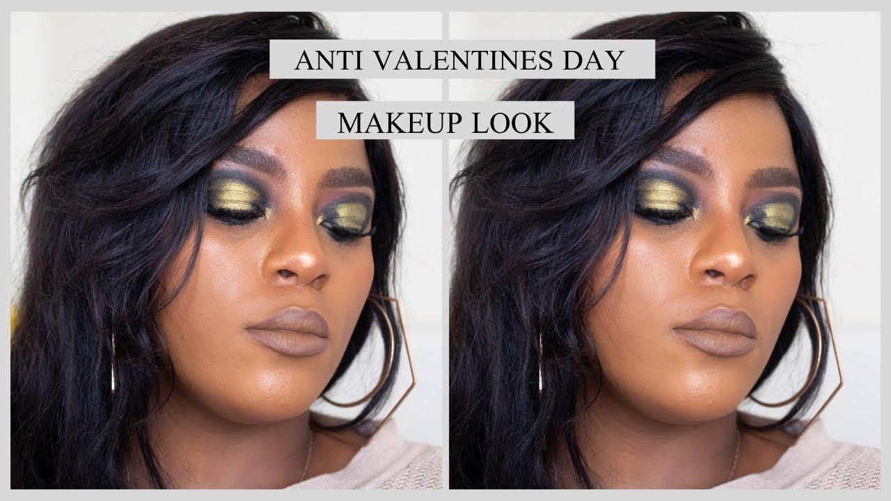 anti valentines day makeup tutorial - 1280×720