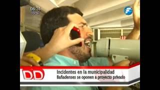 Violentos incidentes se registraron en la municipalidad de Asunción. 11-09-2014