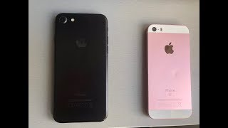 iOS 12 beta 1 iPhone SE vs iPhone 7 ! Speed test! Can the SE beat the 7?