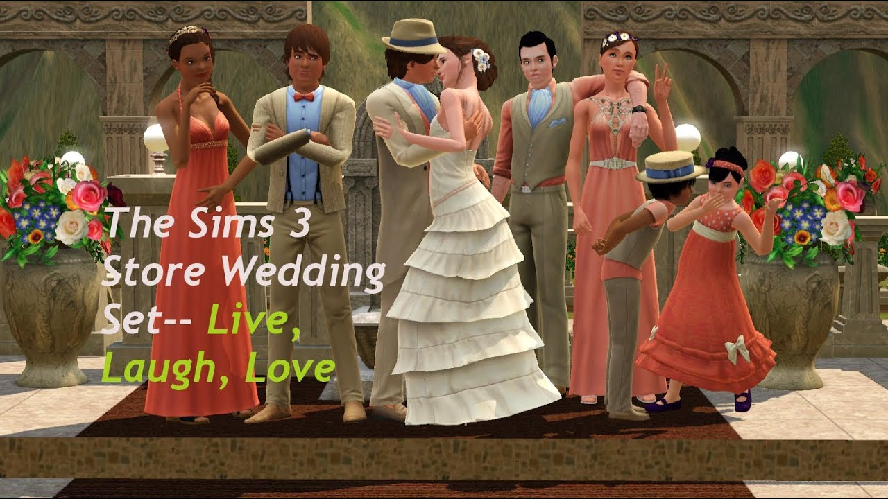 A Review Of The Sims 3 Store Mediterranean Wedding Set Live Laugh Love