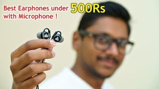Best Budget Earphones with Microphone under 500Rs...
