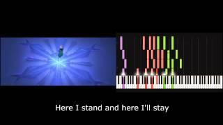 """[Disney Frozen]""""Let it go"""" piano cover + karaoke"""