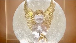 Eine große Schneekugel mit Engel selber bauen 25 cm Ø - DIY