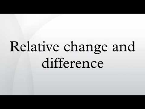 Relative change and difference
