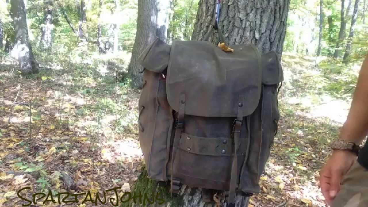 Italian Army Alpini Canvas Backpack Presentation - YouTube