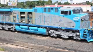 Fotos de Locomotivas ALL America latina logistica,RUMO logistica e brado logistica.