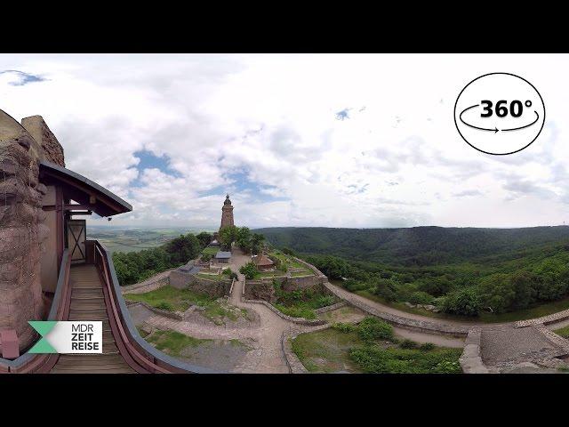 Kyffhäuser-Denkmal Bad Frankenhausen | 360 VR Video | MDR ZEITREISE