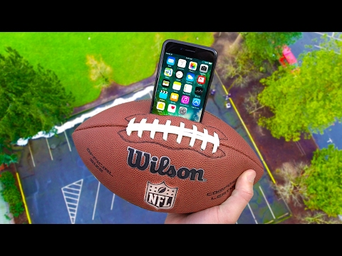 Thumbnail: Can iPhone 7 Survive 100 FT Drop Test inside Football? (NFL Super Bowl Episode!)