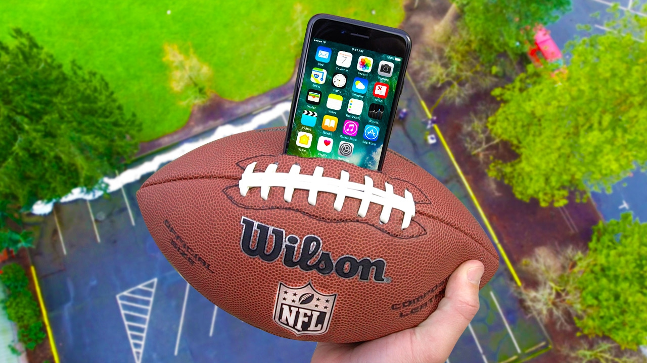 Can IPhone 7 Survive 100 FT Drop Test Inside Football NFL Super Bowl Episode
