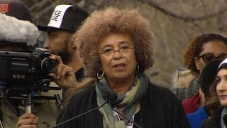Watch legendary activist Angela Davis rally Women's March On Washington