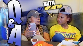 Q & A MUKBANG WITH MY DAUGHTER BROOKLYN *MUST WATCH*