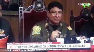 Bolivia - Prisão de María Eugenia Choque e vice Antonio Costas