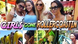 Asa Akira, London Keyes, Natasha Nice & Brooke Banner on a Rollercoaster